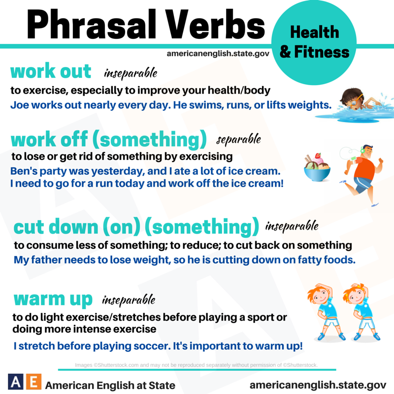 phrasal verbs related to health and fitness Learn