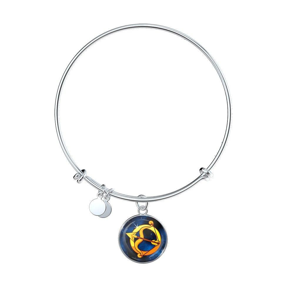Zodiac sign sagittarius bangle bracelet products