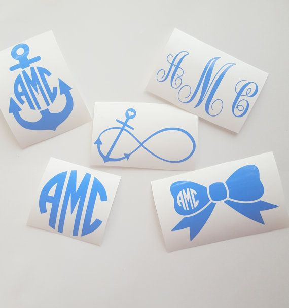 Monogram Decal I Preppy I Infinity Anchor by HouseOfCrafts01