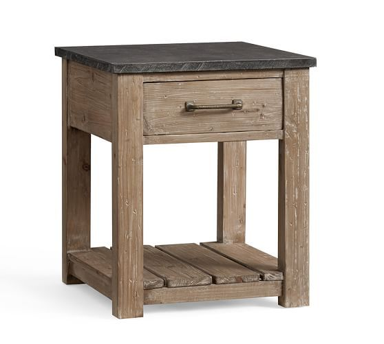 Parker Reclaimed Wood End Table Reclaimed Wood Side Table Side