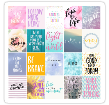 'Motivational Planner Stickers' Sticker by Nguyen Thu Trang