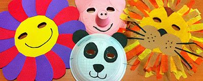 Mascaras Con Material Reciclado Buscar Con Google Platos