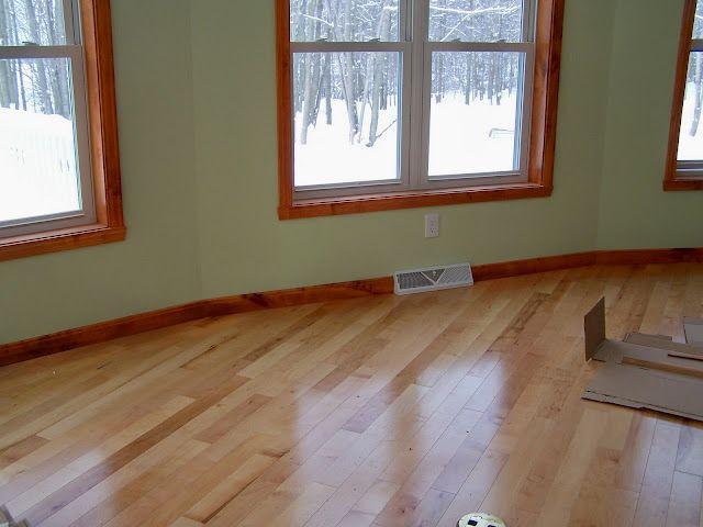 Light Floor Dark Baseboard Dark Baseboards House Flooring