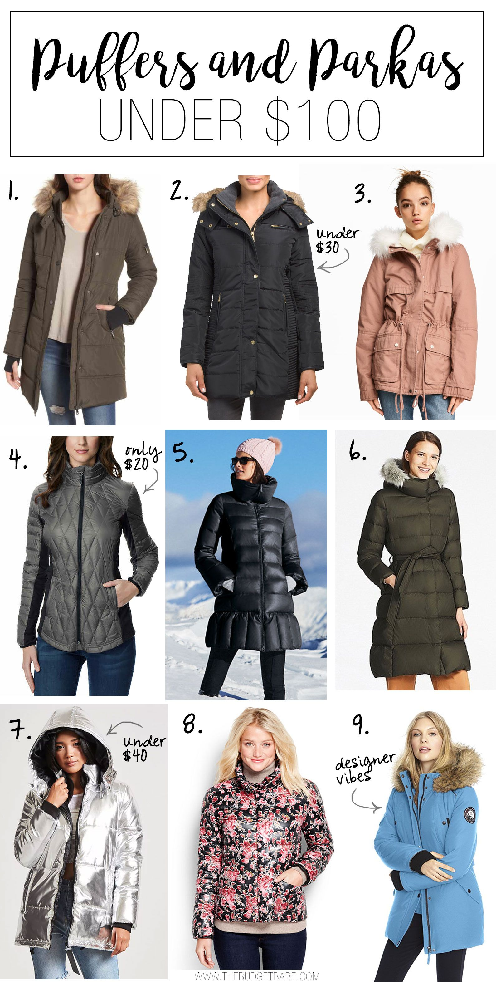 Puffers and Parkas Under $100 | Shopping sites, Parka and Winter