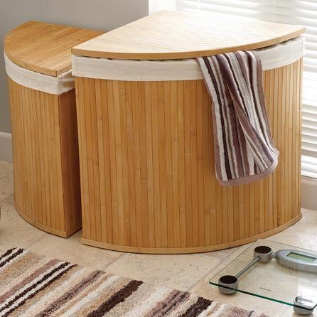 Woodford corner bamboo laundry hamper dunelm sales january real house list pinterest - Corner hamper with lid ...