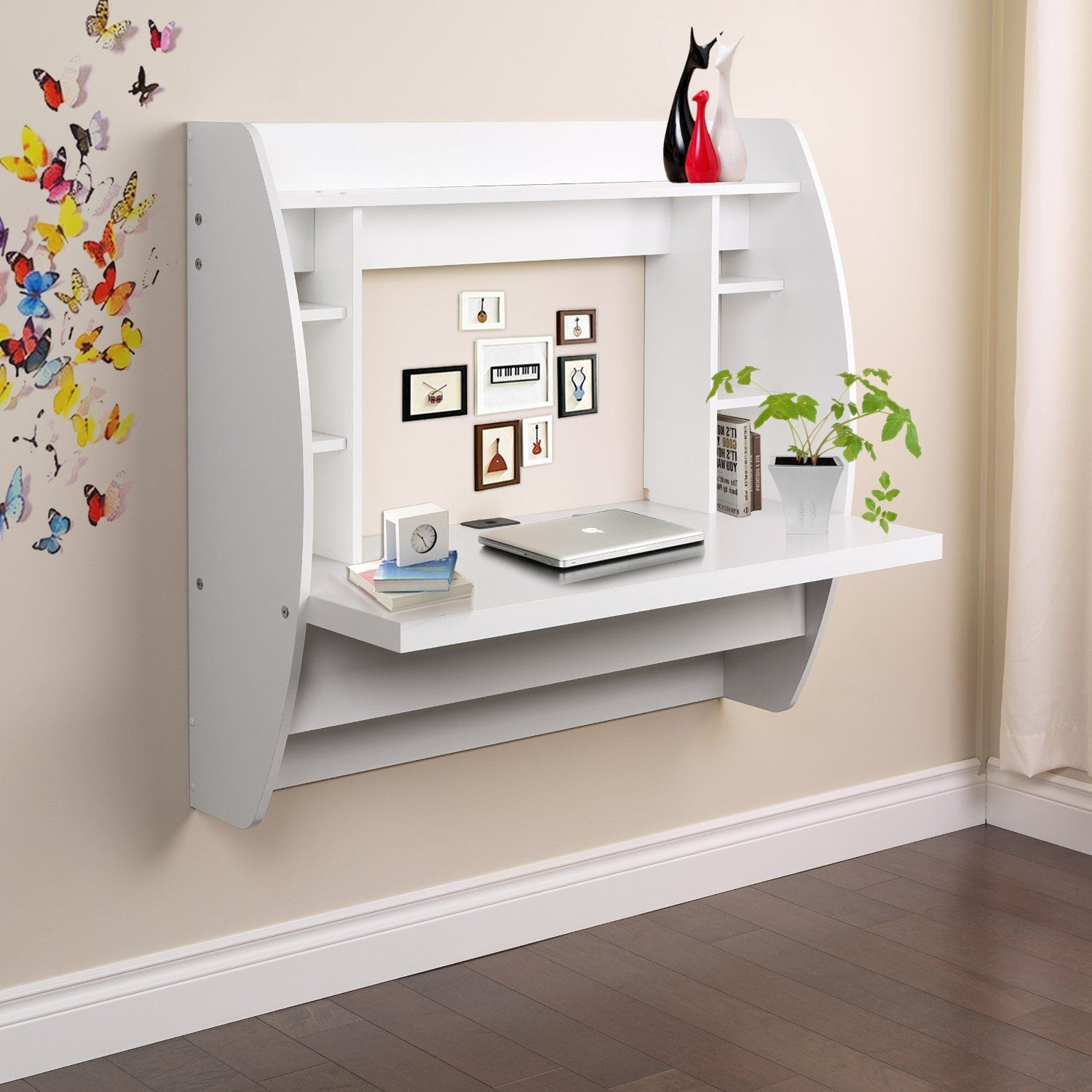 Umax Wall Mounted Floating Desk With Storage