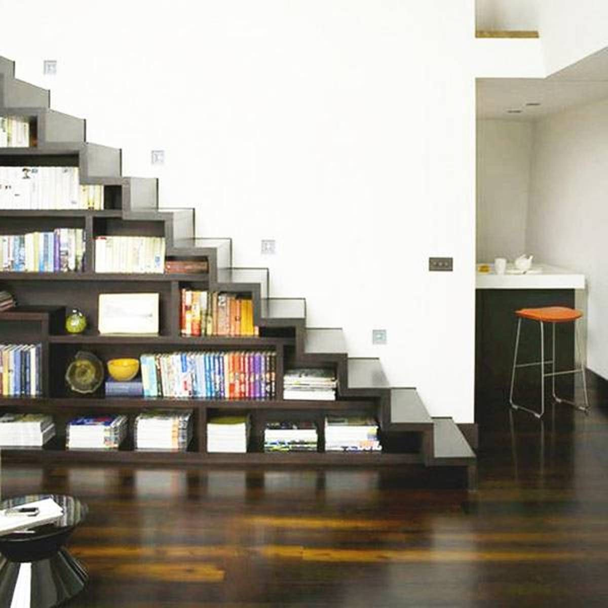 Shelves Storage Space Under Stairs