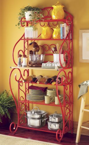 Red Bakers Rack From Seventh Avenue Buy A Similar Rack And Paint