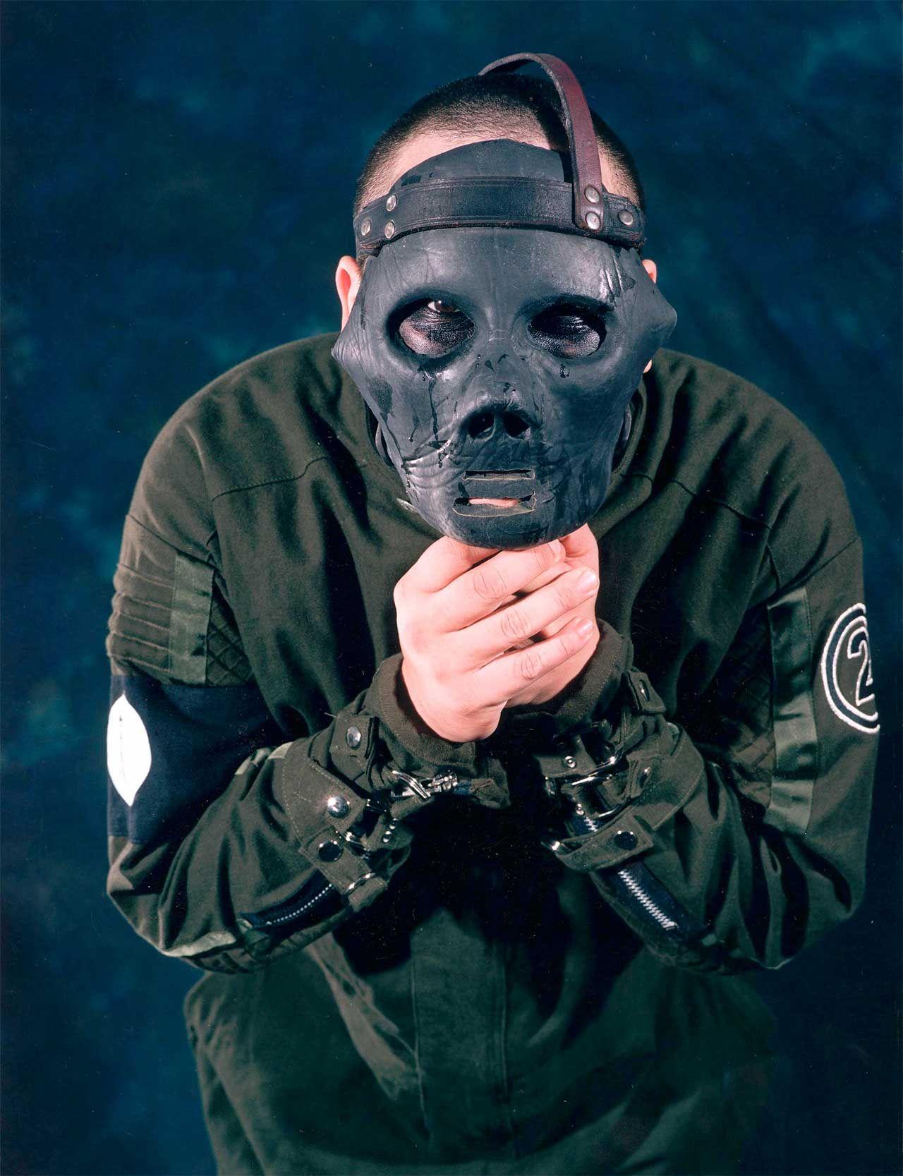 mask   ... Band Signed Mick Thomson Mask — Black Diamond Music ...
