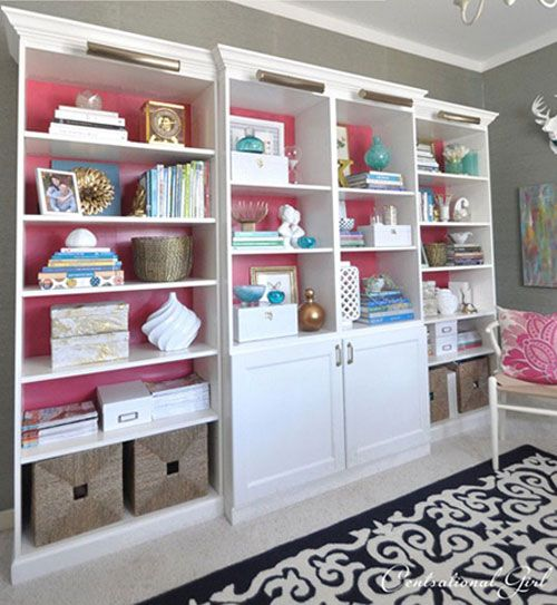 Ikea Besta Billy Bookcases Centsational Great Combination To Put Together A Built In Look