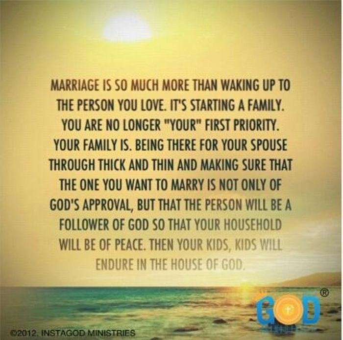 Marriage is so much than waking up to the person you love