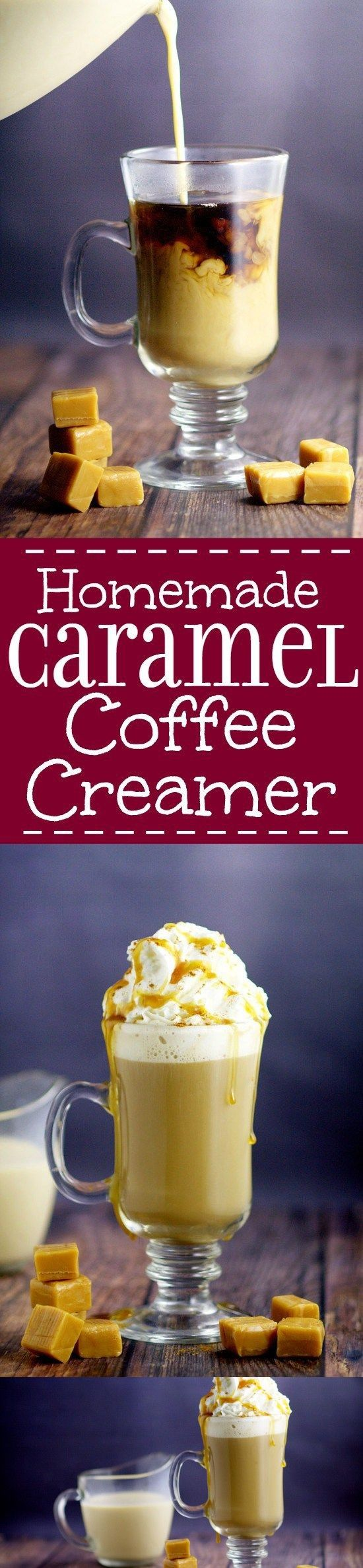 Homemade Caramel Coffee Creamer Recipe in 2020 Caramel