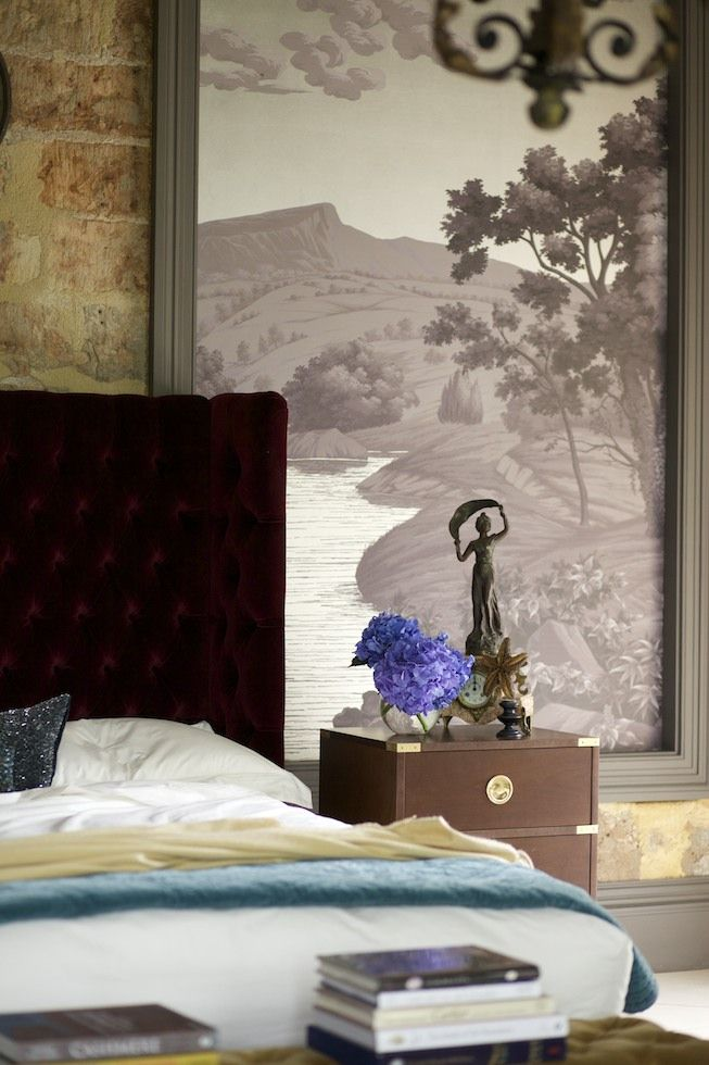 Bespoke Fromental Bucolic Wallpaper Panel, Made For The Dorset Showroom Of  Luxury Bed Makers And