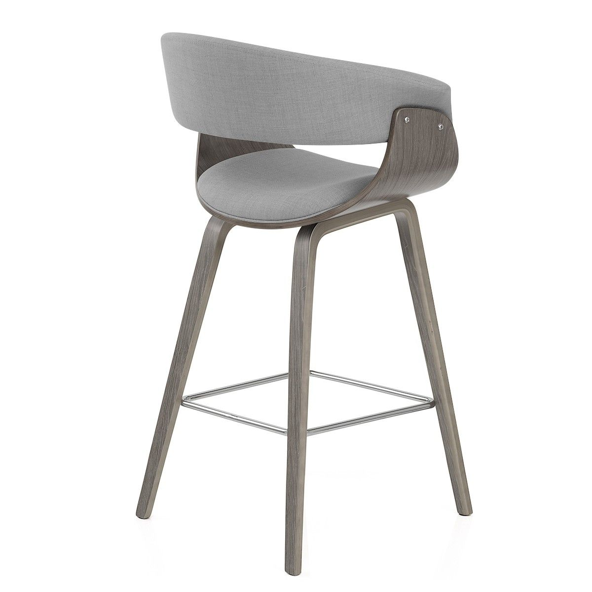 Magnificent Alexis Wooden Stool Grey Fabric B Buy For D53 In 2019 Ncnpc Chair Design For Home Ncnpcorg