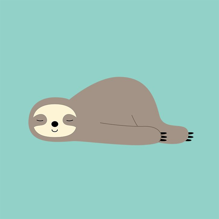 Do Nothing Art Print Cute wallpapers, Sloth drawing