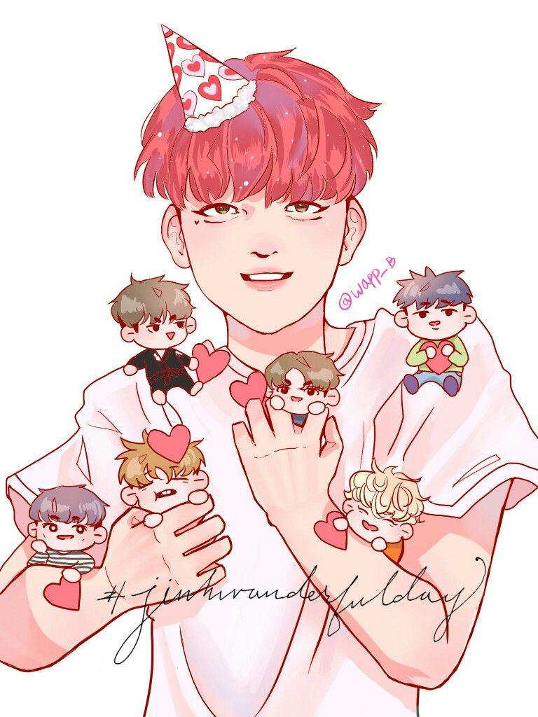JinhwanderfulDay iKON Jinhwan birthday art fanart