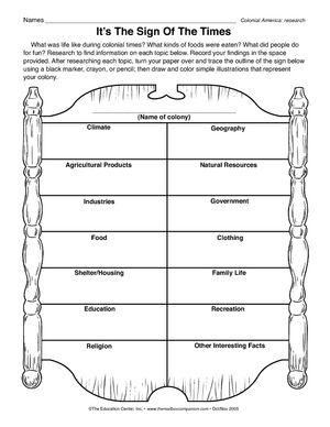 Worksheet: Colonial America | Folder | Pinterest