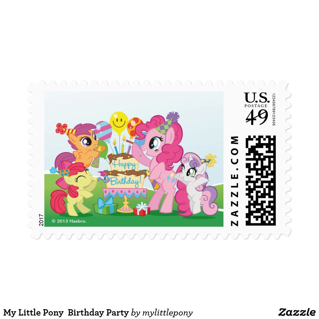 My Little Pony Birthday Party Postage (With