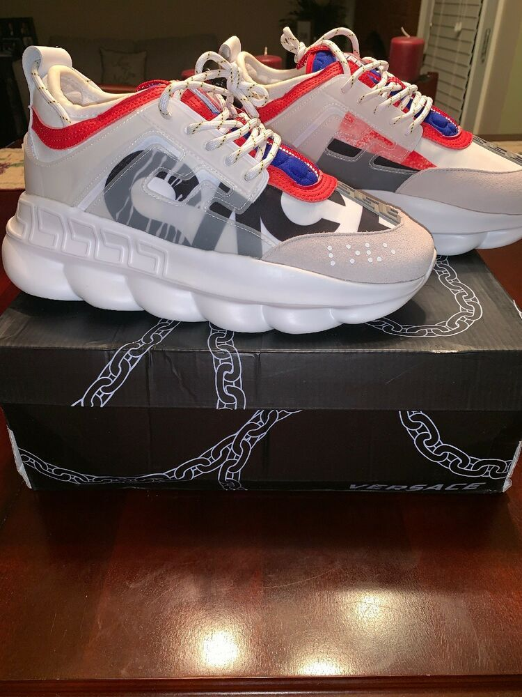 Versace Chain Reaction Sneakers size 10