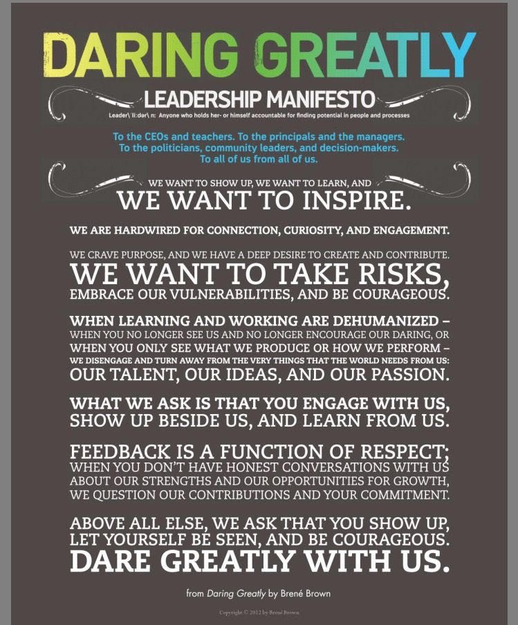 Image result for dare to lead quotes brene