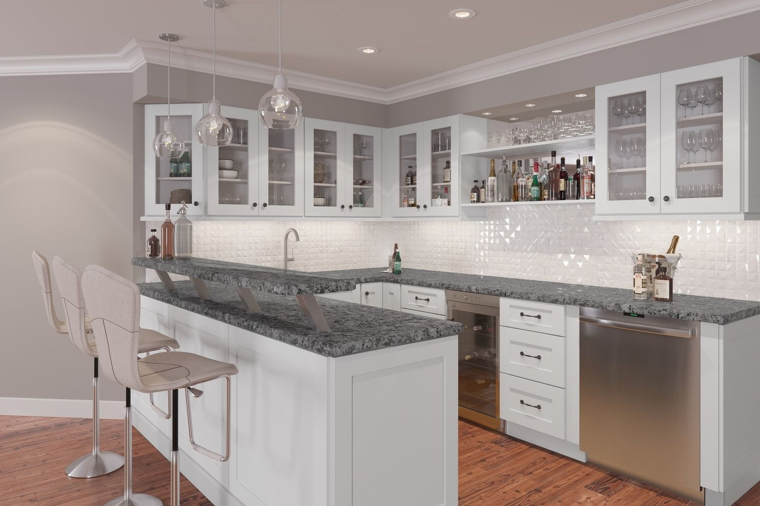 Arctic White Shaker Ready To Assemble Kitchen Cabinets Kitchen Cabinets Rta Kitchen Cabinets Assembled Kitchen Cabinets Kitchen Cabinets