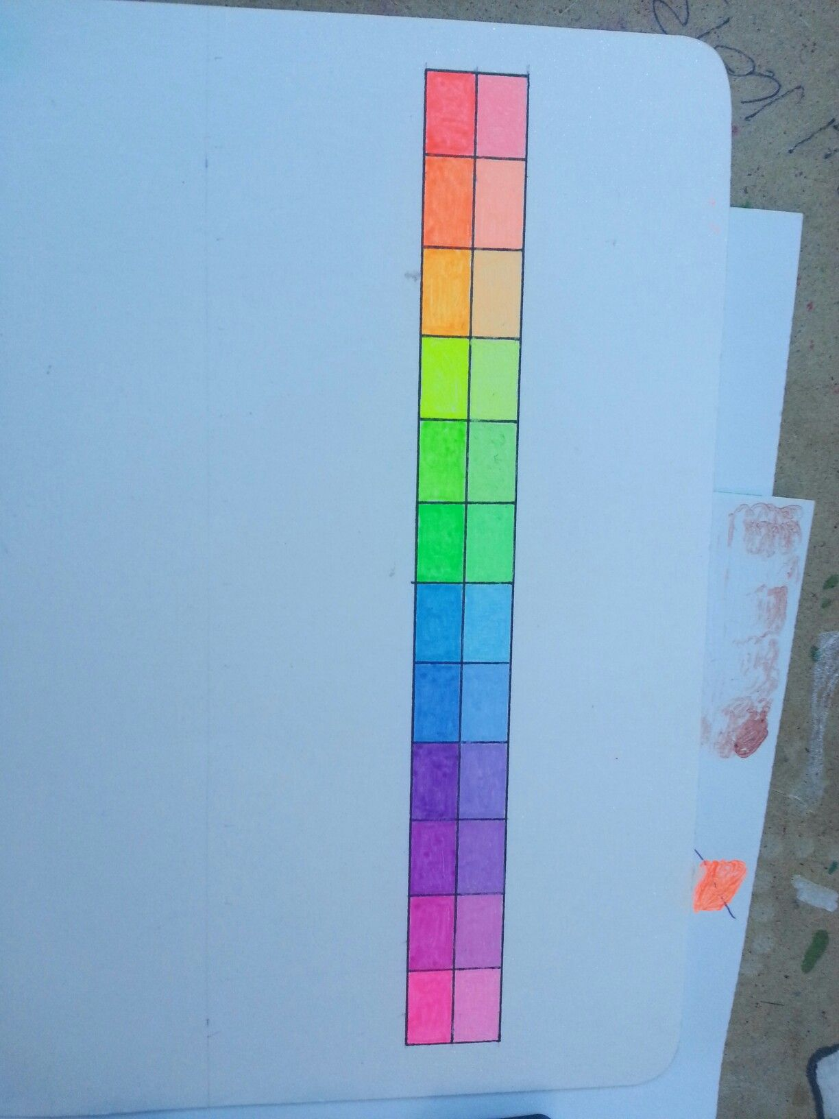 Kaisercraft kaisercolour kaiser gel pens neon and pastel writing sample  color chart example