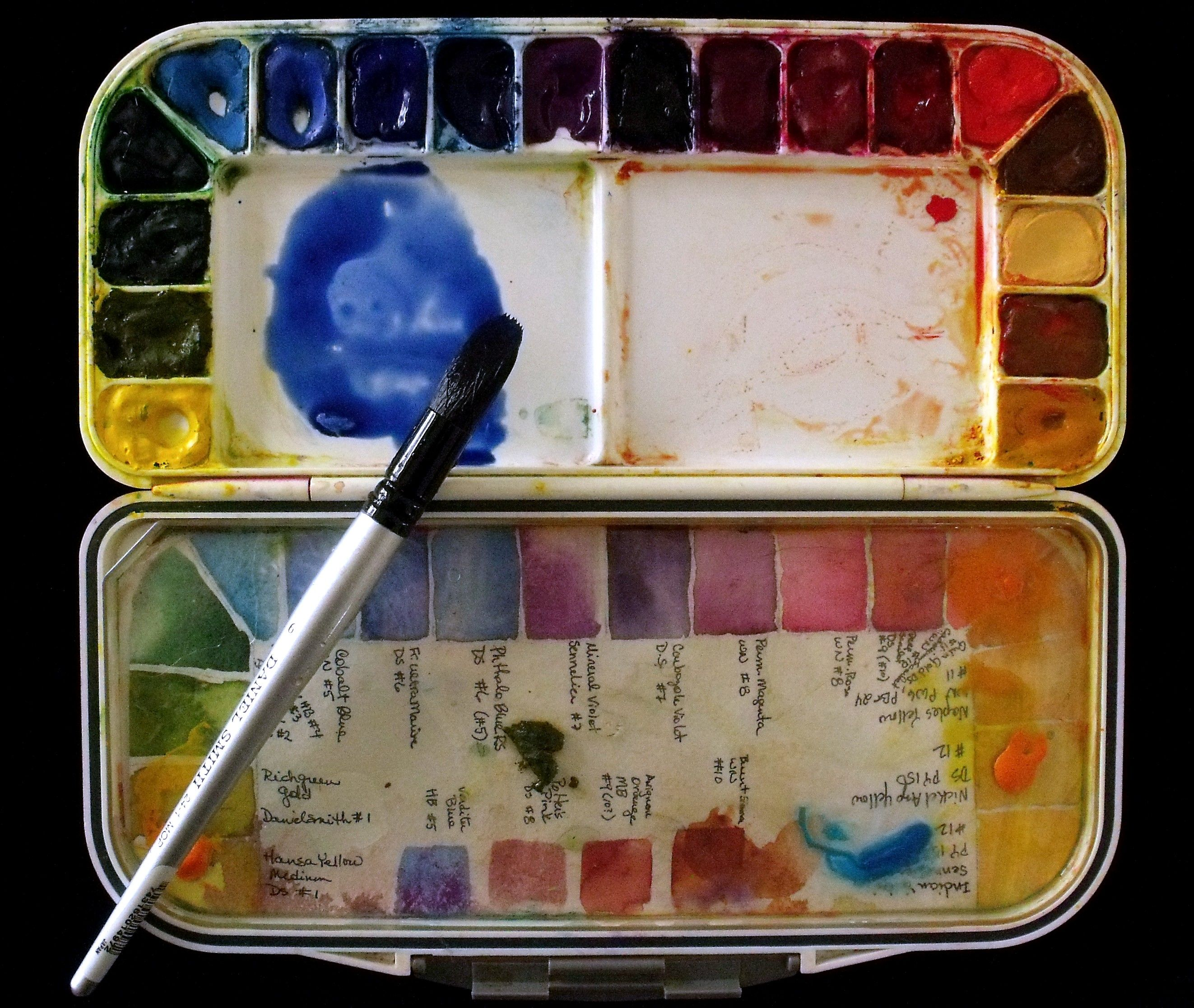 My Watercolor Palette Watercolor Pallet Watercolor Techniques