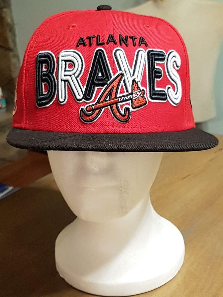 3744965c61b Atlanta Braves New Era 9Fifty Adjustable Hat-Flat Brim  fashion  clothing   shoes  accessories  mensaccessories  hats (ebay link)