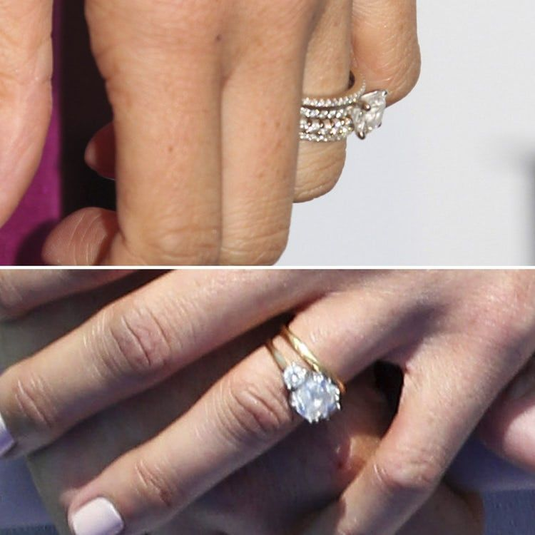 Meghan Markle Wedding Ring.Meghan Markle S Engagement Rings We Re Comparing Her Two Rocks