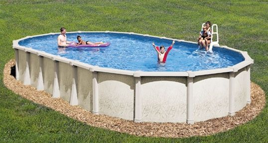 Luxury Backyard Swimming Poolsoval Above Ground Pool Deck 18 x 33 54 tahitian resin above ground oval pool package| backyard