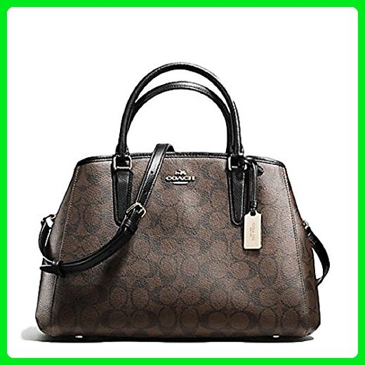 COACH SIGNATURE SMALL MARGOT CARRYALL IN BROWN BLACK IM AA8 - Top handle  bags ( Amazon Partner-Link) 5e3cca16c2
