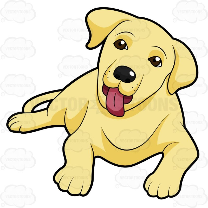 Yellow Dog Clipart Cute Yellow Labrador P...