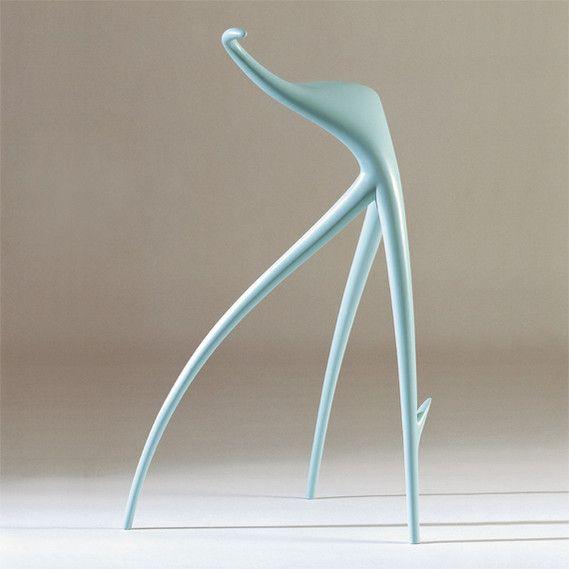 w w stool vitra ag basel 1990 varnished sand cast aluminum designed by philippe starck. Black Bedroom Furniture Sets. Home Design Ideas