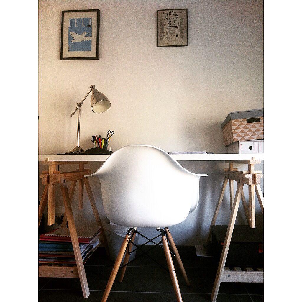 Chaise Eames Bureau Eames Chaise De Bureau Ea Blanc Skai