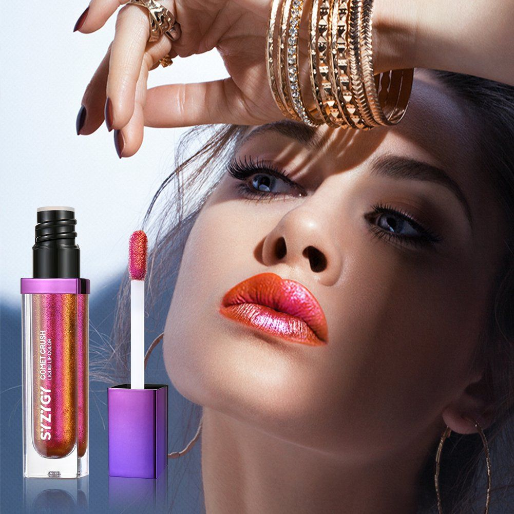 Lip Gloss Holographic Long Lasting Metallic Liquid Lip