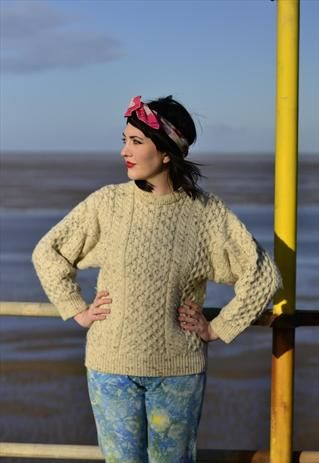 I find this look so inspiring - a real neo-fifties spin on a casual jumper. The make-up makes the look.