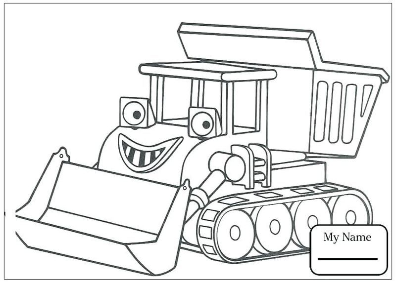 Bob The Builder Colouring Pages Pdf In 2020 Truck Coloring Pages Kids Printable Coloring Pages Bob The Builder