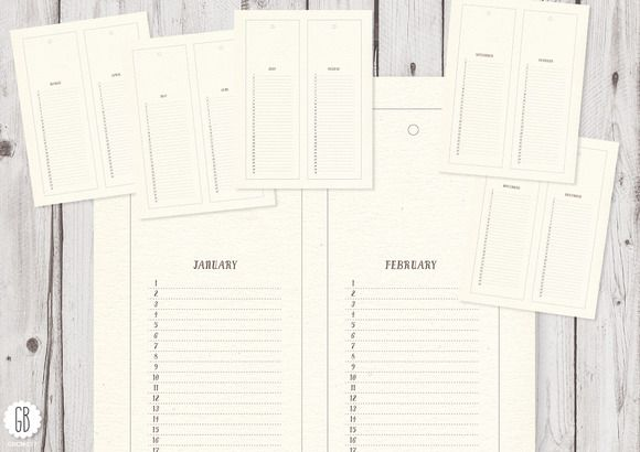 Calendar, perpetual monthly Template, Creative and Advent calendars - perpetual calendar template