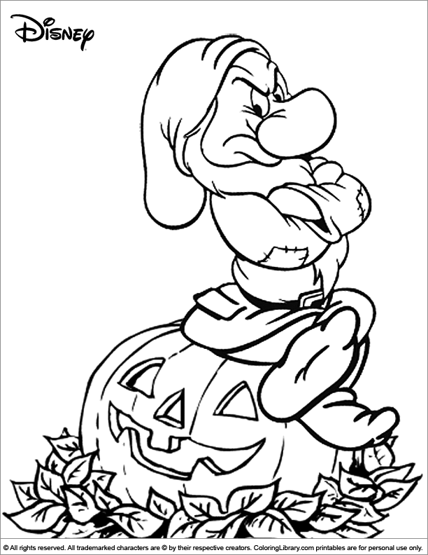 Grumpy Halloween Coloring pages Halloween coloring