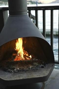 How To Burn Wood In Outdoor Fireplaces Modern Outdoor Fireplace