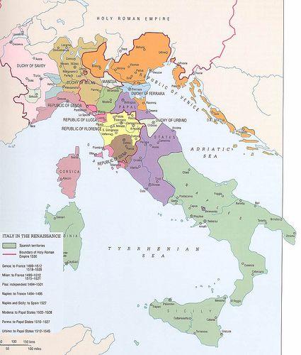 Renaissance Italy Map | Renaissance | Mapa historico, Mapas, Mapa