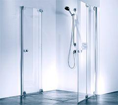 bodengleiche Dusche mit Falttüren Dusche