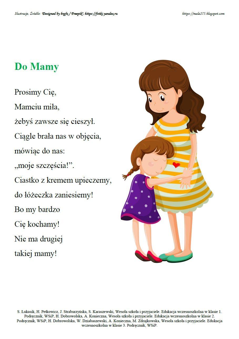 Dzien Mamy I Taty With Images Rymowanki Miesnie Przedszkole