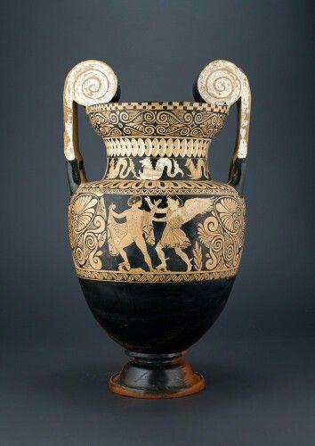 Ceramic Red Figure Volute Krater Side A Etruscan C 380 350 B C Phoenix Ancient Art Gallery
