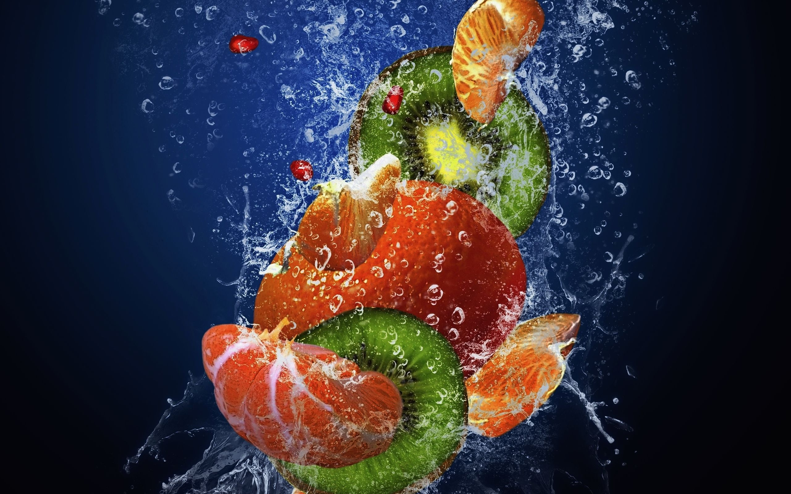 Fruits fresh water drops 2560 1600 water for Fresh pictures