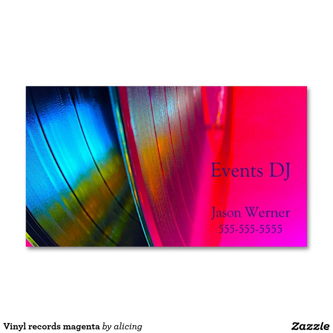 vinyl records magenta business card business cards magenta and