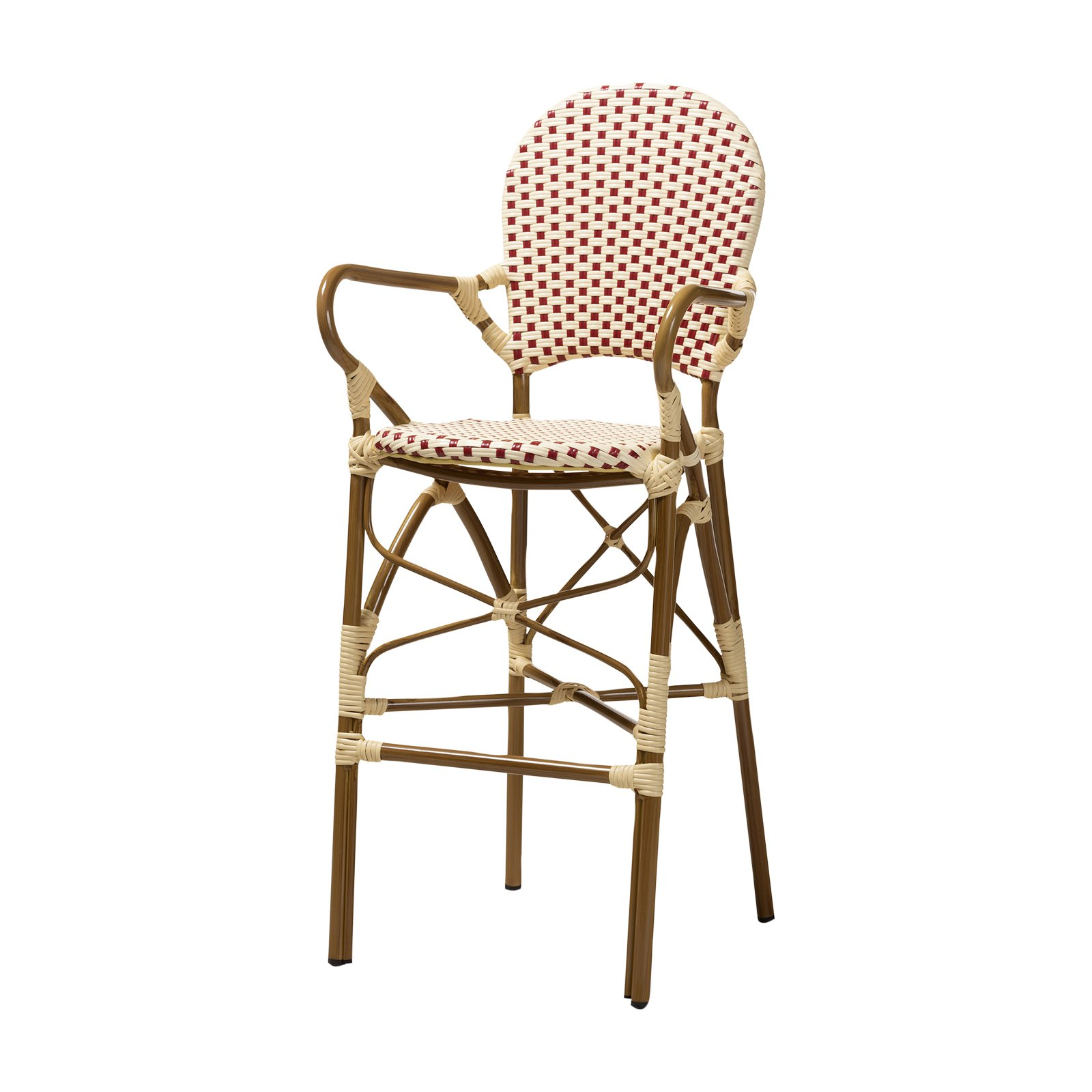 Astonishing Baxton Studio Marguerite 29 53 In Indoor Outdoor Stackable Theyellowbook Wood Chair Design Ideas Theyellowbookinfo
