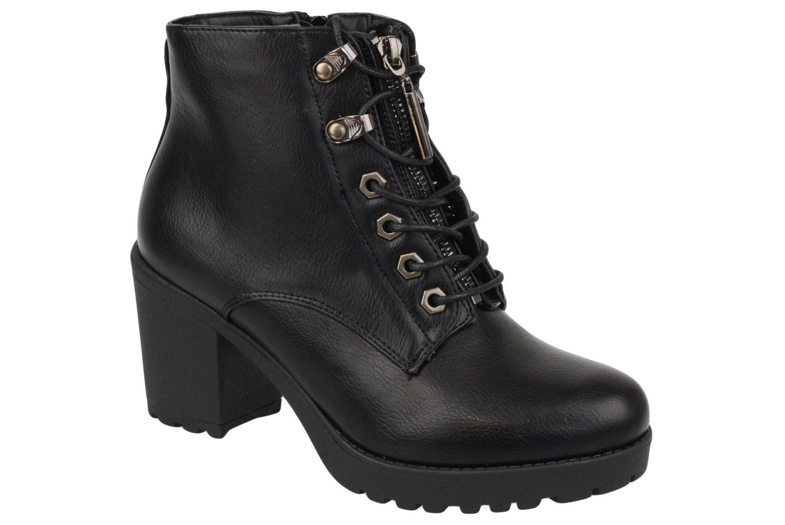 M Daszynski Botki Trzewiki Czarne 1596 27 38 7617220903 Oficjalne Archiwum Allegro Combat Boots Boots Wedge Boot
