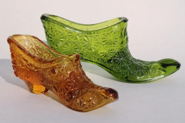 Vintage Fenton Gl Shoes Daisy And