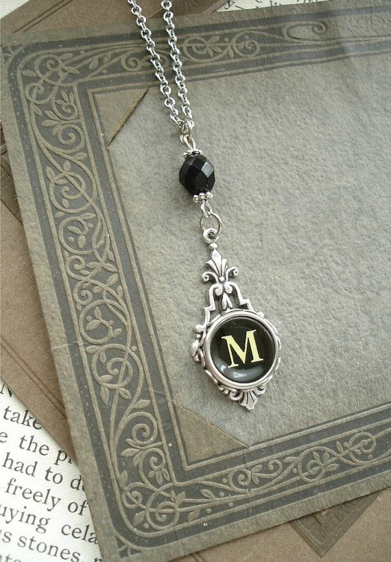 Typewriter key necklace from PreciousPastimes on Etsy.